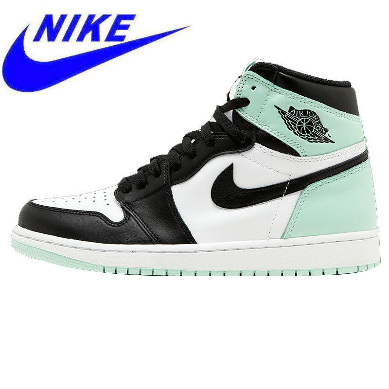 71f42912c33a Original Nike Air Jordan 1 Retro High OG NRG AJ1 Men s Basketball Shoes  Mint Green
