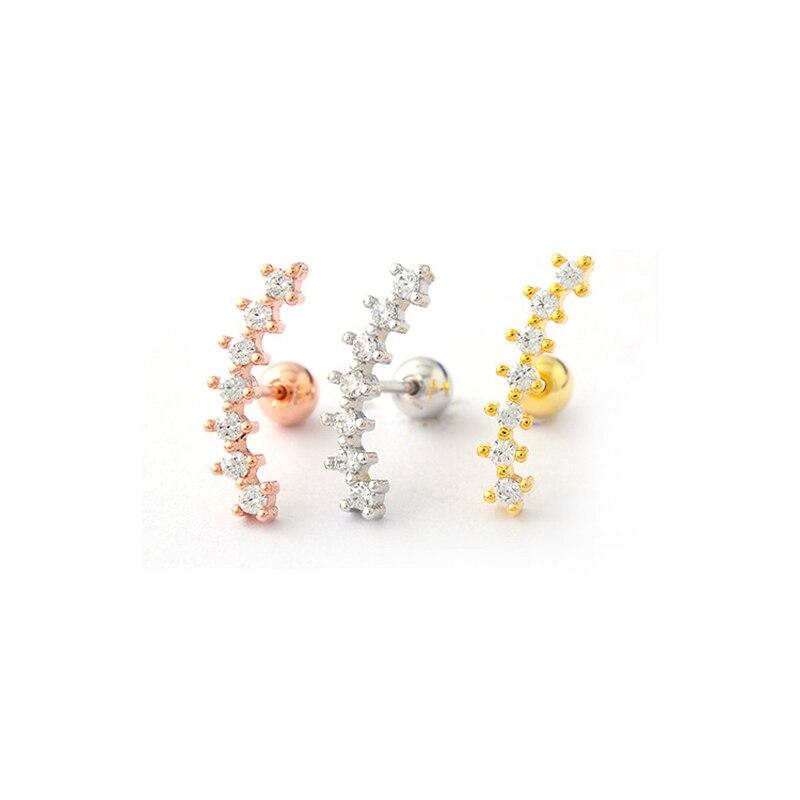 e293d5475c2ba US $2.88  1 Piece Rose Gold cartilage Earring Tragus piercing cartilage  Helix Conch Daith piercing body jewelry-in Body Jewelry from Jewelry & ...