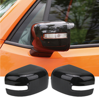 WISENGEAR Carbon Black Rearview Mirror Cover For Jeep Renegade 2015 2017 Rear View Mirror Trim Car Side Mirror Covers #CEK110