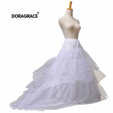 Doragrace 2 Hoops 3 Layers Bridal Petticoat Wedding Dress Underskirt Crinoline Jupon Accessories