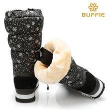 สีดำสูงรุ่นฤดูหนาวผู้หญิงบู๊ทส์เกล็ดหิมะบนลูกไม้ขึ้นซิปสูงขาหญิงรองเท้าหิมะขนาดใหญ่40 41รองเท้าที่อบอุ่น