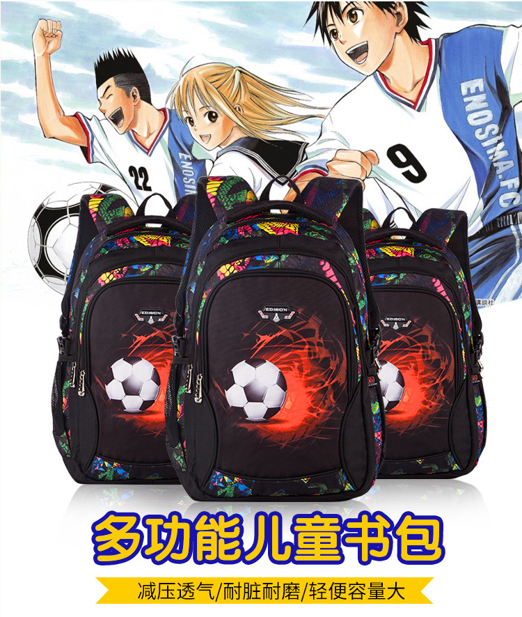 826e0c4d3a6a mochila infantil soccer-backpack football printed school bags for teenagers  kids boys primary school anime BackPack for Children