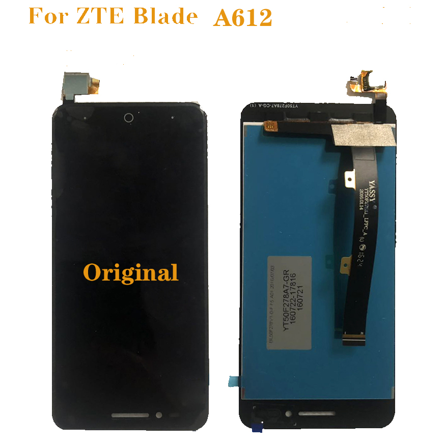 "New original for zte blade A612 LCD monitor touch screen digitizer component 5"" 100% test work monitor free shipping-in Mobile Phone LCD Screens from Cellphones & Telecommunications"
