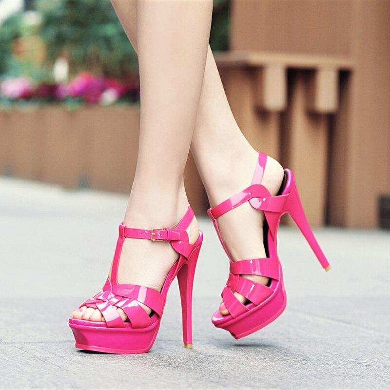 HTB16NPHX5frK1RjSspbq6A4pFXaV Coolcept Genuine Leather High Heel Sandals Women Heels 10cm And 14cm Sexy Footwear Fashion Woman Shoes R4425 Hot Sale 33-40