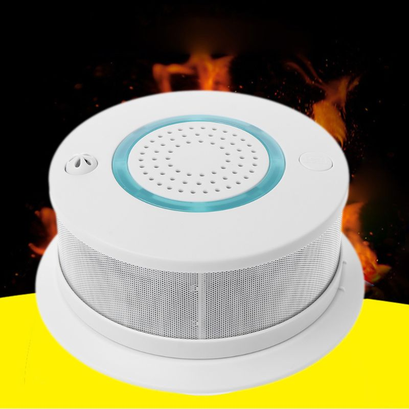 Smart WIFI Wireless Fire Smoke Detector Alarm Temperature Sensor for Home Security APP Remote Control Gadgets Pakistan