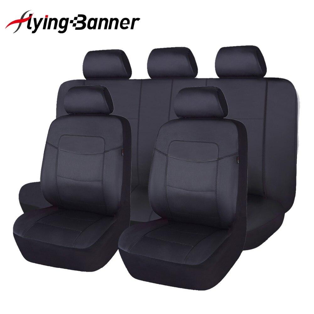 Alta qualidade couro do plutônio capa de assento do carro universal 8 cores tampas de assento automóveis para toyota kalina granta priora renault logan