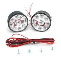 2x 9W White Superflux 9 LED Car Auto DRL Daytime Running Day Driving Fog Light