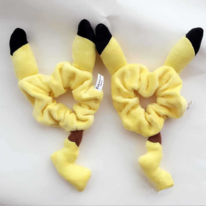 Pikachu Ear Woolen Hair Bands Headdress New Fashion Cute Hair Ropes Women Girls Fashion Hair Acessories Lazos Para Pelo 7ZA106