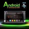 100% Android 4.4 Автомобильная Электроника Gps-навигация 2DIN Автомобилей Стерео Радио Автомобильный GPS Bluetooth USB/Универсальный Сменный Плеер + 8 Г КАРТА