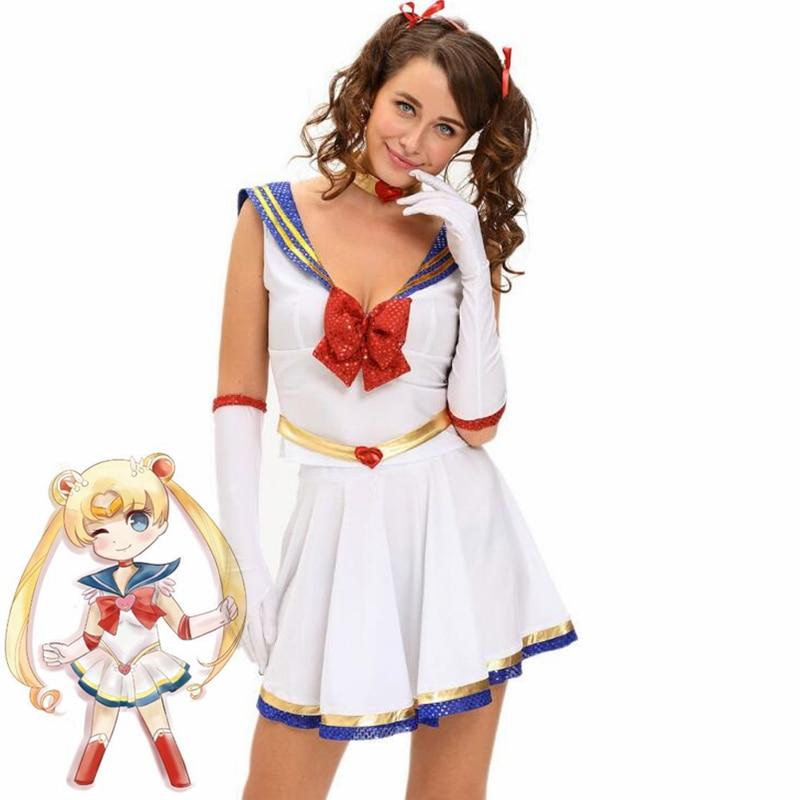 Japan Anime Sailor Moon cosplay costume sailor uniform dress Halloween costumes Mercury set kids adult women uniform