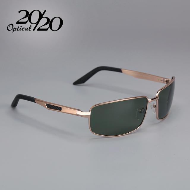 20/20 optical new alumínio lente polarizada óculos de sol dos homens óculos de sol masculinos condução sombra retângulo óculos gafas pt1135