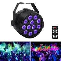 Led Stage Light 36W 12LEDs UV Par Light by IR Remote and DMX Ultraviolet Black Light Spotlight Lamp for Body Paint Disco DJ Club