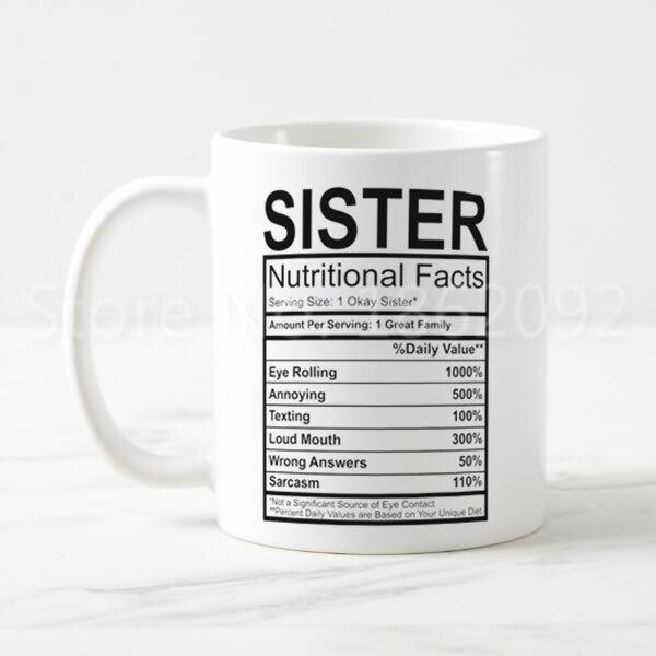 Big Sister Gift Big Sister Mug God Created My World/'s Best Funny Coffee Cup