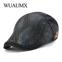 Wuaumx Branded Summer Beret Hats For Men Cotton Visor Cap Women Casual Peaked Flat Duckbill Hat Unisex casquette de marque