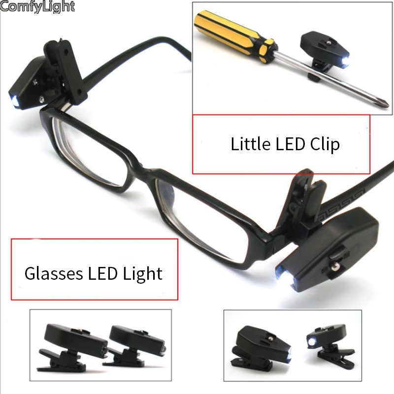Mini luz de libro Flexible LED Clip para gafas en el libro Luces de lectura N5C9