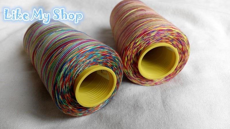 Европейское качество Размер 402 пестрые цвета резьба для удобства/пряжа швейная нить 5000 ярдов каждый