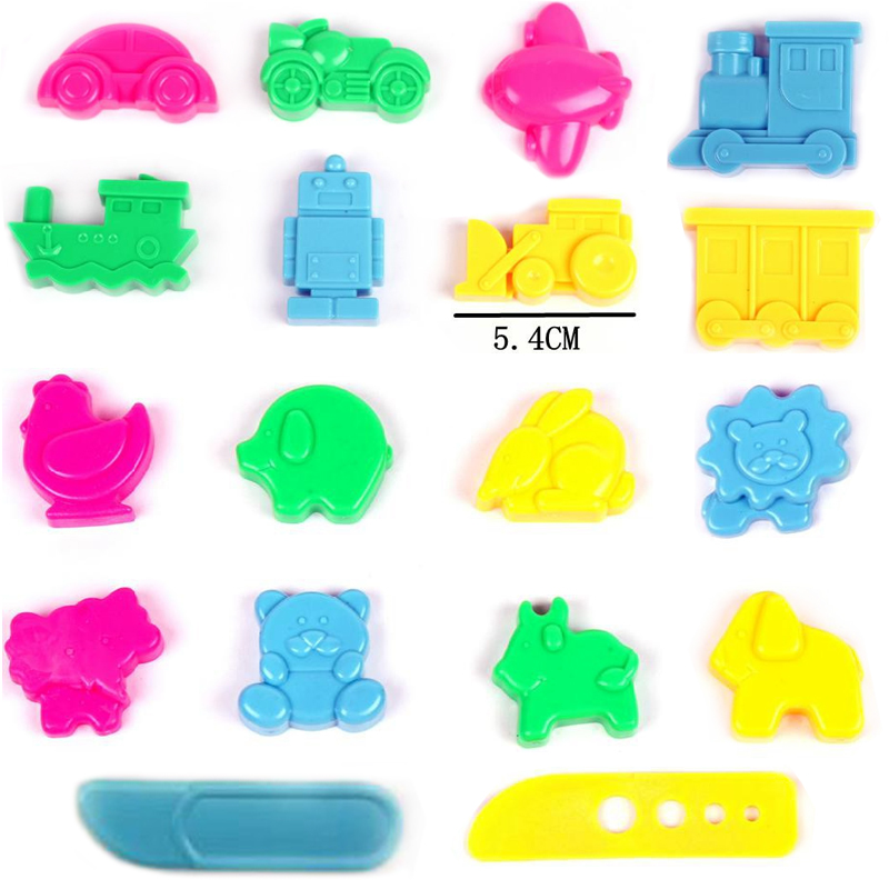 18pcs/lot slime Tool Color Play Dough Model Tools Toy Creative 3D Plasticine Tools Playdough Set Kit Childrens Gift DIY Toy