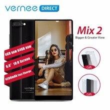 Оригинальный Vernee Mix 2 4G LTE 4G B 6 4G B оперативная память встроенная смартфон 6,0 «2160×1080 экран Android Octa Core двойной сзади камера мобиль