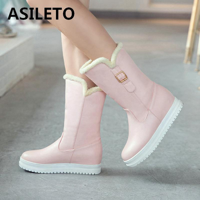 f6ab3d89 Media Calzado Bota Zapatos Botas Invierno Botines S788 Nieve Marca Mujeres  Caliente Botte Asileto Mujer Pantorrilla pink black ...