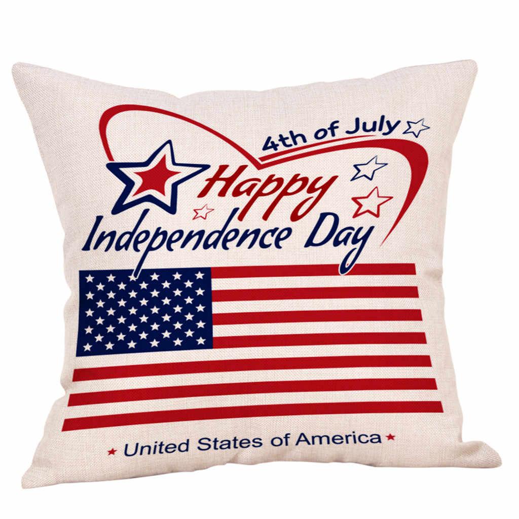 Gajjar Happy Independence Day наволочка для диванной подушки Чехлы для подушек домашний декор happy July 4th Лен наволочки 45x45 см дропшиппинг