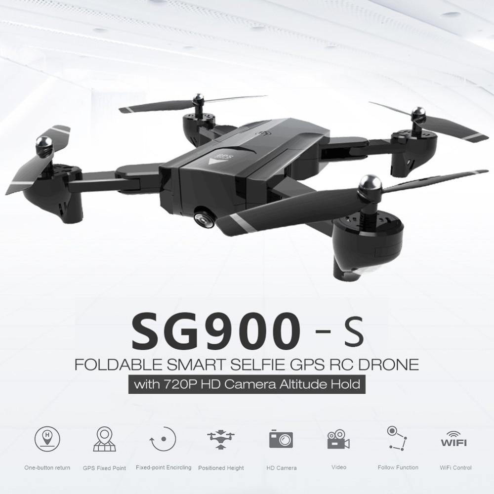 720 P HD caméra RC Drone quadrirotor 2.4G RC Drone pliable Selfie intelligent GPS FPV quadrirotor Wifi intelligent GPS Drone livraison directe