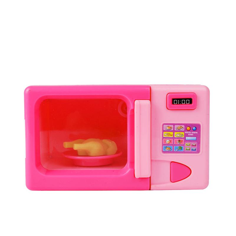 Oven And Microwave Set: Children Miniature Furniture Toys Microwave Oven Pretend