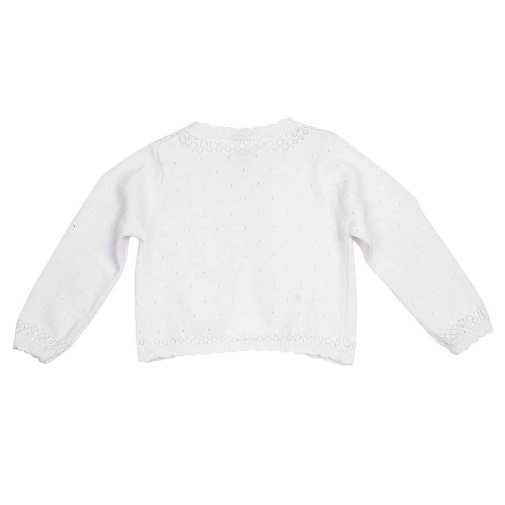2018 White Kids Girls Long Sleeve Lace Flower One Button Closure ...