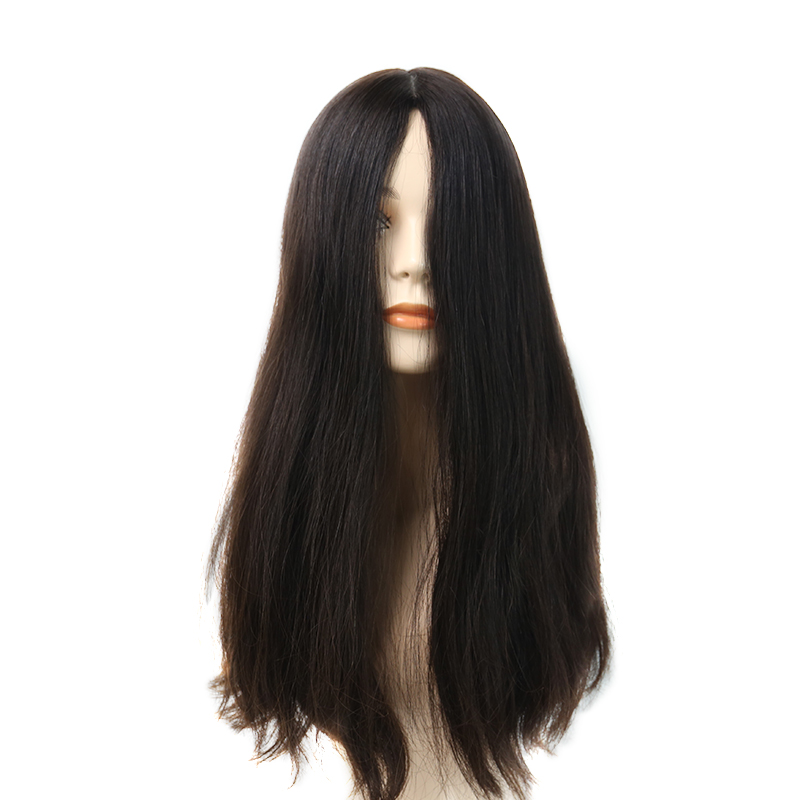 Human Hair Wigs For Jewish Woman Long White Wigs For Sale European Remy Jewish Medical Wig Natural Brown Color