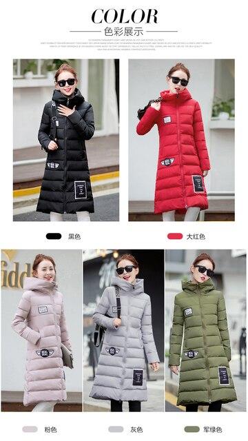 2016 Winter Korean long-paragraph cotton padded women's large yards thickening Slim coat knee lengthened cotton jacket Maternity