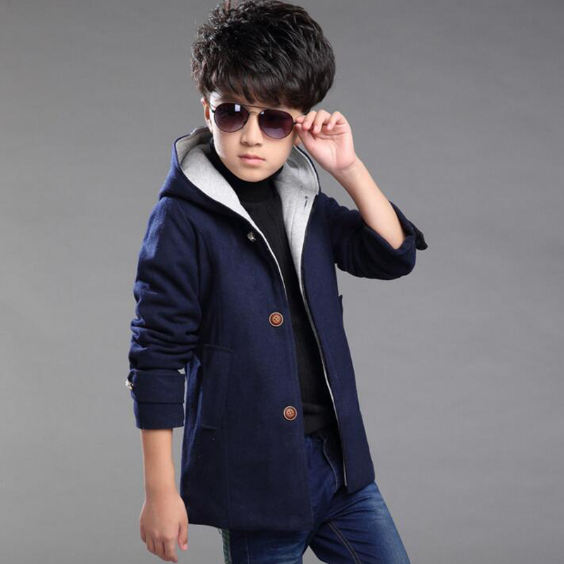 Newest Boys Coat 2016 Fashion Solid Color Boys Coat V Collar Prince Kids Coats
