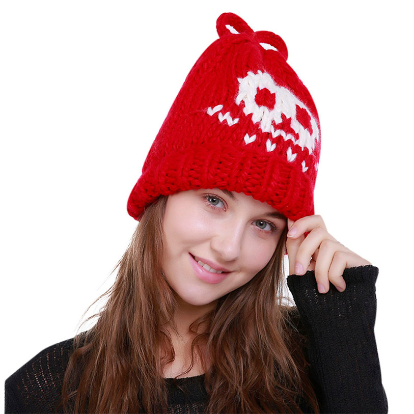 Women Warm Crochet Winter Wool Knit Ski Beanie Skull Caps Hat Hairy Bulb Fashion Clothing Accessories High Quality Oct 16 hot winter beanie knit crochet ski hat plicate baggy oversized slouch unisex cap