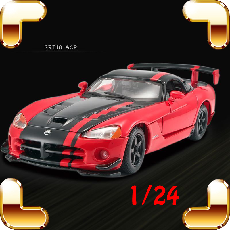 Christmas Gift Viper SRT10 1/24 Model Metal Sports Racing Car Collection Model Scale Toys Decoration Men Die-cast Static Present модель автомобиля 1 24 motormax dodge viper srt10 racing 2003