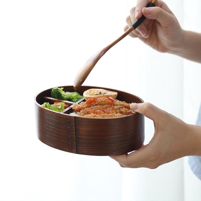 Bento en bois Style japonais 4