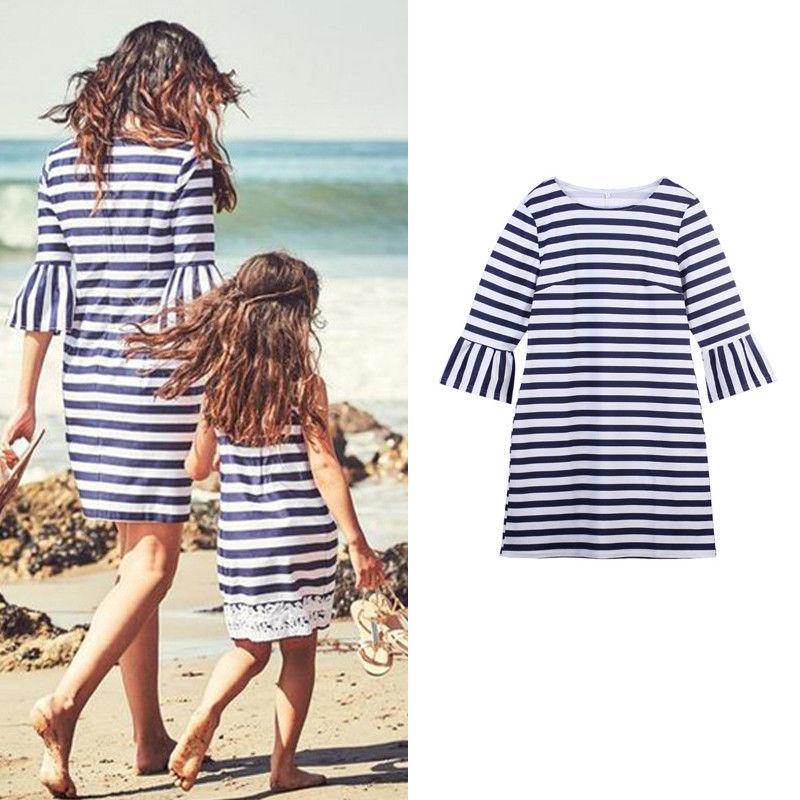 2018 Family matching clothes mother daughter dresses son outfits cotton casual short-sleeve T-shirt family look baby clothing