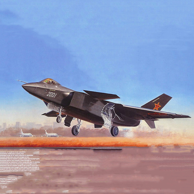 kids toys  1/72 China Shenyang J-20 Fighter with Launching Deck Aircraft boys gift Collection Diecast Airplane Model