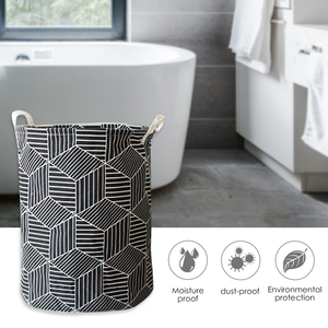 Image 4 - Art Cloth Folding Geometry Dirty Clothes Toys Storage Bucket Dirty Clothes Laundry Basket For Household Storage Basket