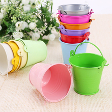 12pcs Colorful Mini Metal Bucket Candy Favours Box Pail Wedding Party Gifts  -15