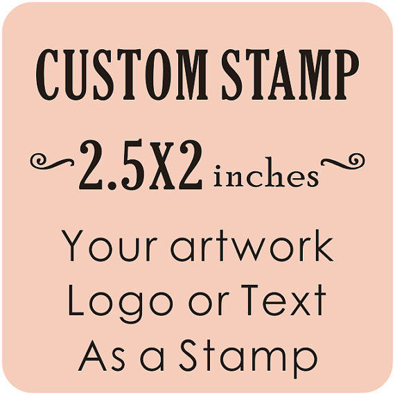 Custom Logo Stamp Wedding Business Card Seal Return Address Craft 2 5x2inches