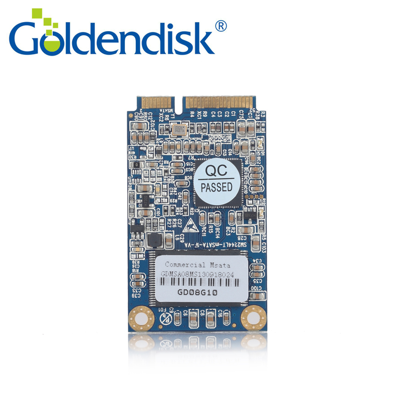 Goldendisk MSATA PCI E 8GB SSD High Performance Original NAND MLC Flash For LaptopTabletPadIPC