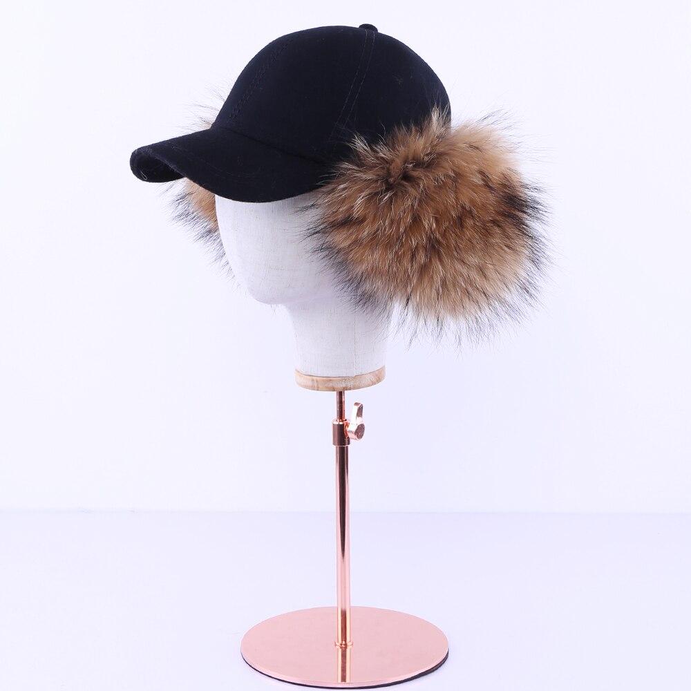 Mink Hat Women winter mink fur grass leisure hat, diamond, autumn winter, Korean version, warm baseball cap, whole mink. MZ15 - 2