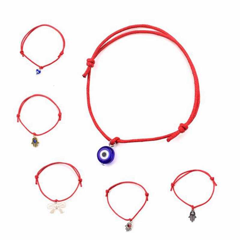 High Quality Turkish Lucky Evil Eye Bracelets For Women 9 Colors Handmade Braided Rope Lucky Jewelry Red line Bracelet Female