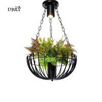 American country Artificial plant loft chandelier lighting for living room dining room bar industrial hanging light fixtures