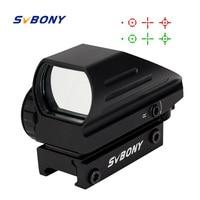 SVBONY 20mm Ratil Red Dot Scope Riflescope Optics Tactical Red Green 4 Reticle Dot Reflex Optics Sight Scope for Hunting F9129A