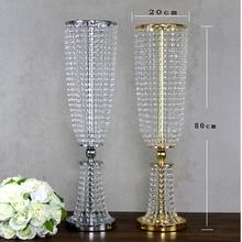 2 pièces 80 cm de haut acrylique cristal de mariage route plomb mariage pièce maîtresse événement de mariage décoration/événement fête décoration pour table