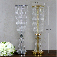 2pcs 80cm tall acrylic crystal wedding road lead wedding centerpiece event wedding decoration/ event party decoration for table