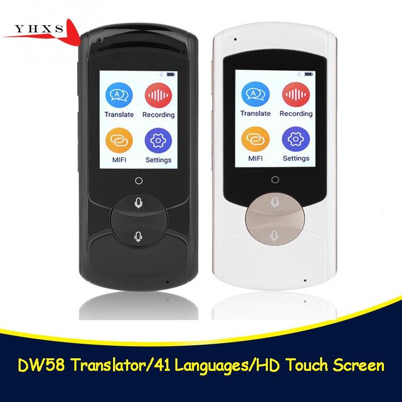 Portable 41 Languages Smart Voice Translator 2.0 Touch Screen WIFI Network Offline English Russian Korean Language Translator