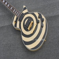 New Electric Guitar Custom Zakk Wylde bullseye Gitaar EMG 81/85 Actieve pickups 9 V Batter Music electric guitar in stock