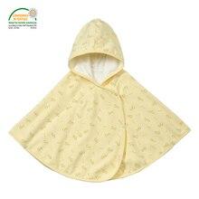 Floral Fleece Baby Cloak Oeko-tex 100 Certified 90cm Winter Outwear Baby Poncho Hooded Coat Girls Boys Children's Clothing