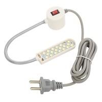 Luz para máquina de coser portátil 10 LED de trabajo base de montaje magnética lámpara de cuello de cisne para toda la luz para máquina de coser ing