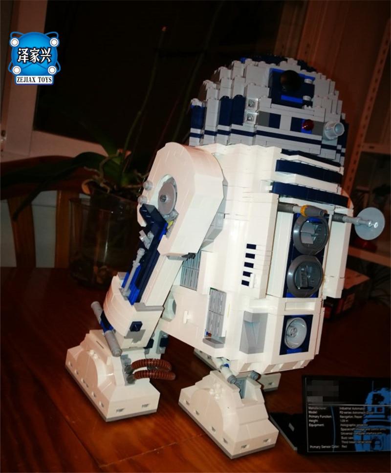 Classic Genuine Star Series The R2 Robot Set D2 Out of Print Building Blocks Bricks Toys Lepins Wars Birthday Christmas Gifts футболка классическая printio r2 d2 star wars dead star